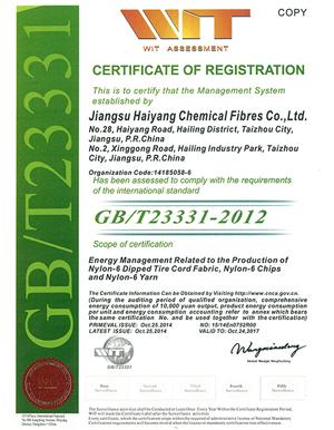 能源认证证书(英文)-秋雪荣誉