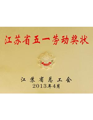 江苏省五一劳动奖状-秋雪荣誉